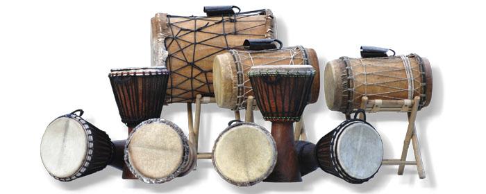 afrikanische Trommeln bei www.klang-bild.co.at