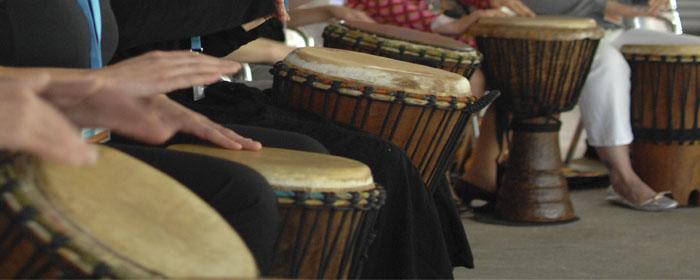 Referenzen aus Trommelseminaren bei www.klang-bild.co.at